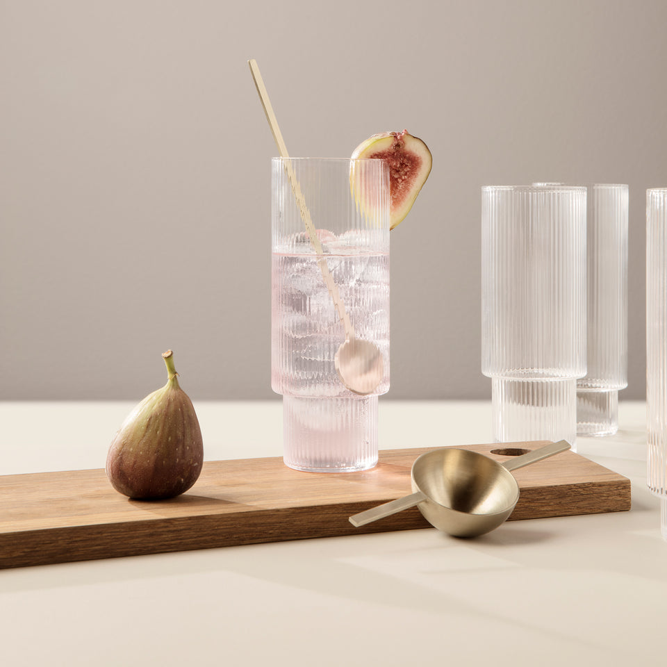 Ripple Long Drink Glasses - Set of 4- by Ferm Living