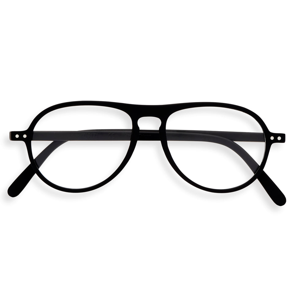 Black #K Aviator Reading Glasses by Izipizi