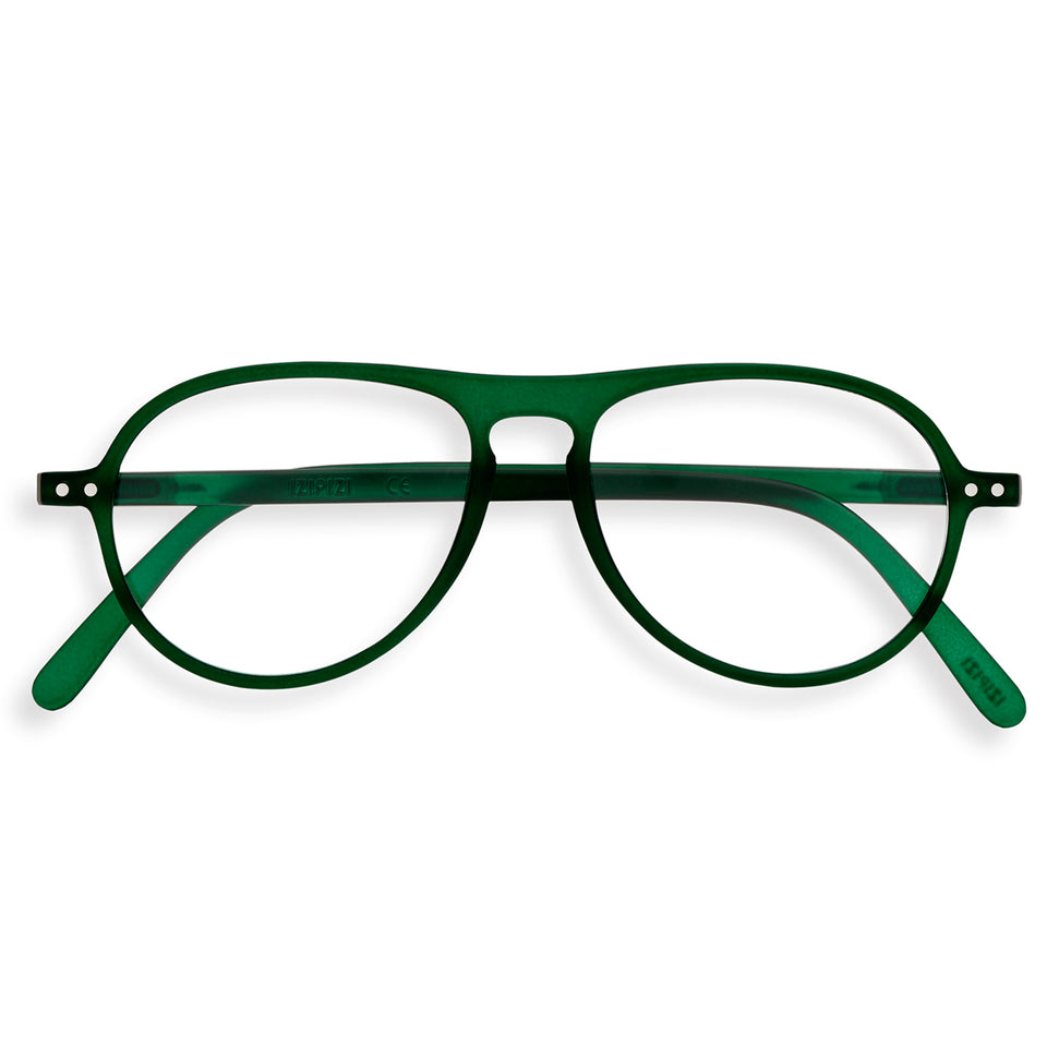 Green Crystal #K Aviator Reading Glasses by Izipizi