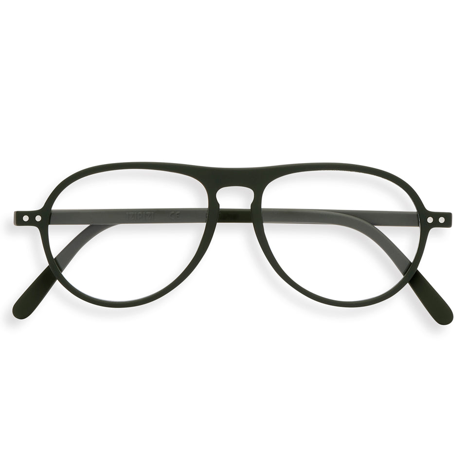 Kaki Green #K Aviator Reading Glasses by Izipizi