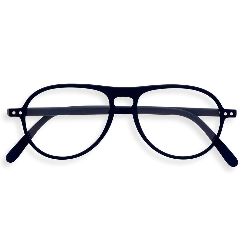 Navy Blue #K Aviator Reading Glasses by Izipizi