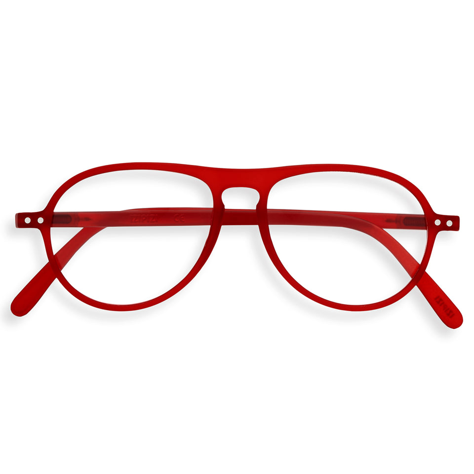 Red Crystal #K Aviator Reading Glasses by Izipizi