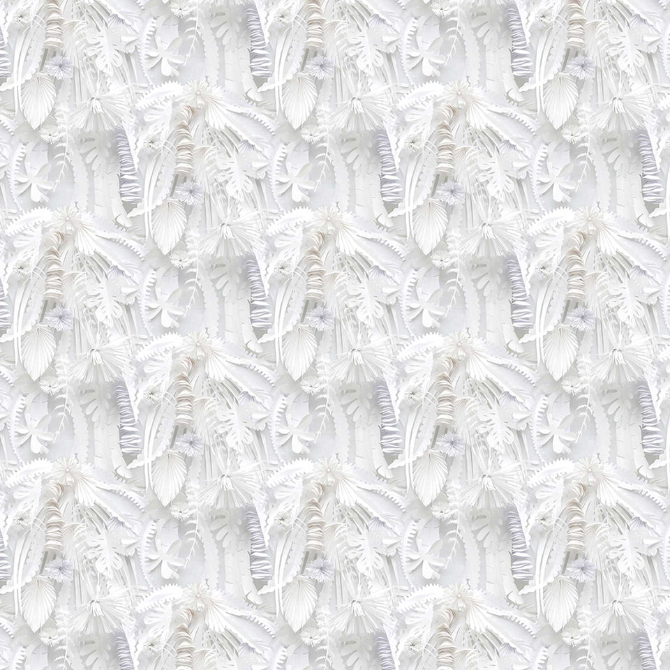 Paper Flowers STB-02 Monochrome Wallpaper by Studio Boot + NLXL