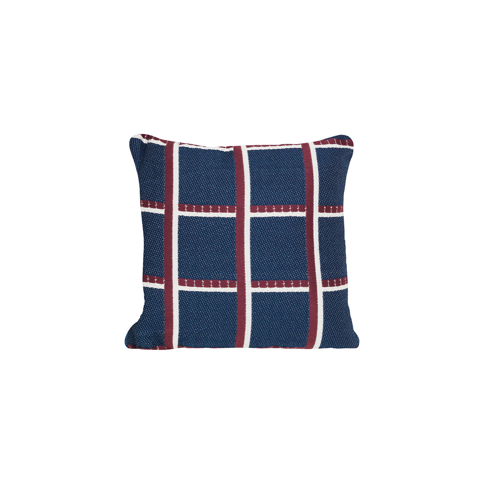 Salon Cushion Checked Blue by Ferm Living