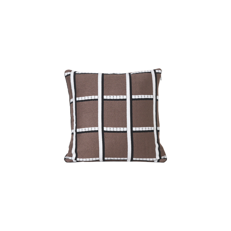 Salon Cushion Checked Taupe by Ferm Living