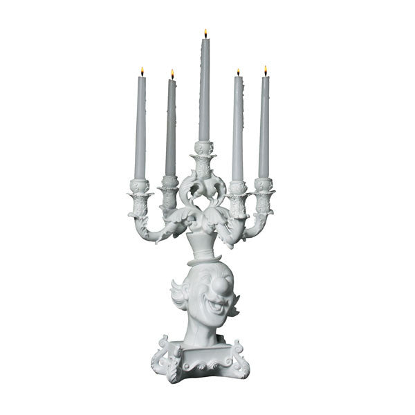 Seletti Burlesque Clown White Candelabra