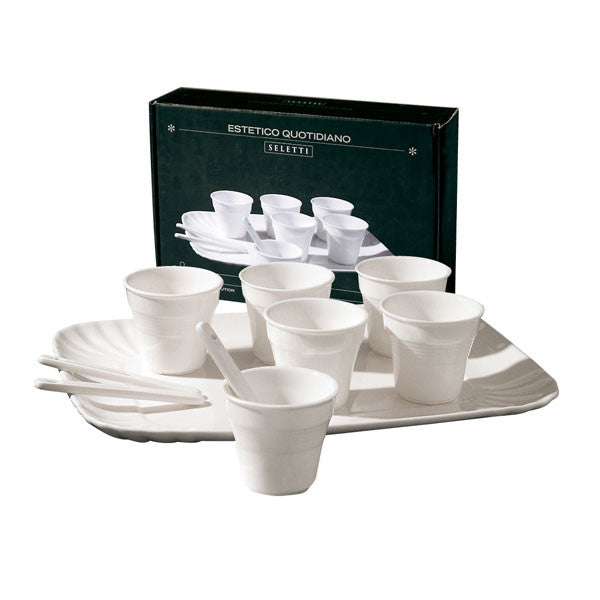 Seletti Estetico Quotidiano Coffee Set 6 Cups + 1 Tray