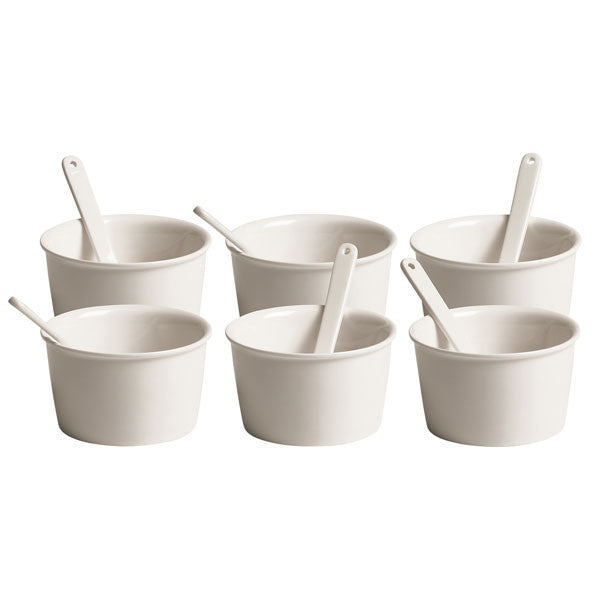 Seletti Estetico Quotidiano Ice Cream Bowls, Set of 6 - Vertigo Home