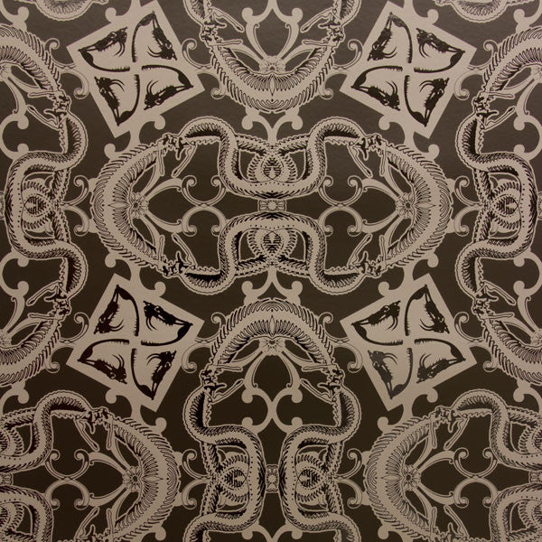 Snake Bit - Noir on Black Mylar Wallpaper by Flavor Paper - Vertigo Home