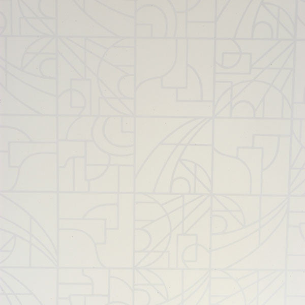 Stanley - Marshmallow on White Mylar Wallpaper by Flavor Paper at www.vertigohome.us