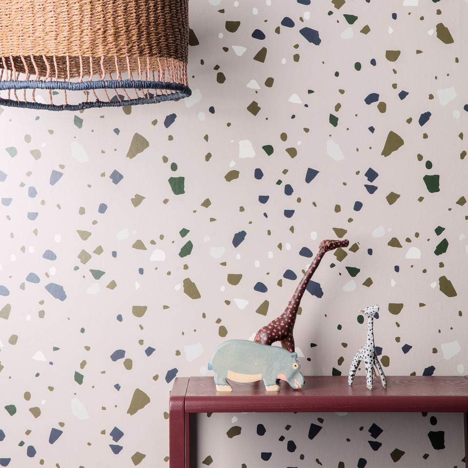 Terrazzo Wallpaper - Grey by Ferm Living