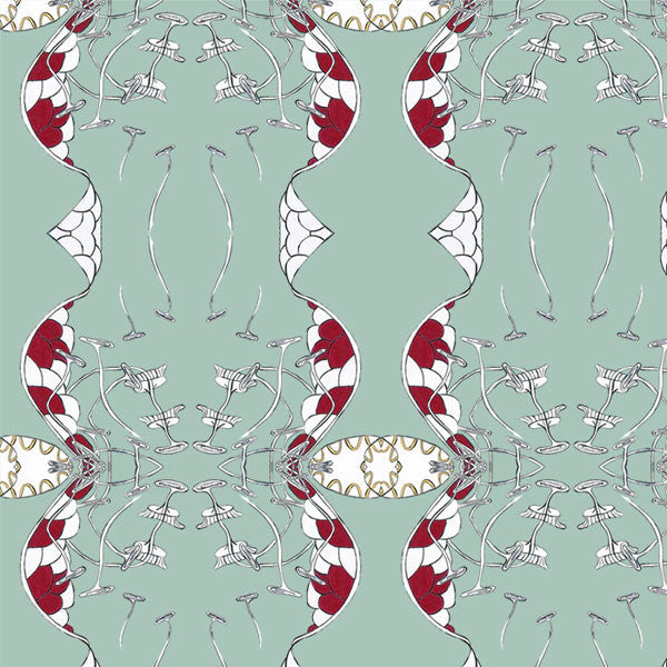 Tivoli Tale - Muscari Mint by Double R Studio - Vertigo Home