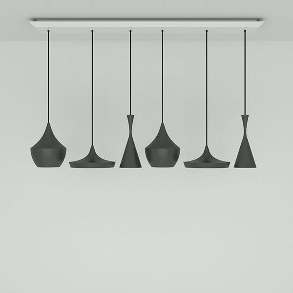 Beat Black Range Linear Pendant System by Tom Dixon