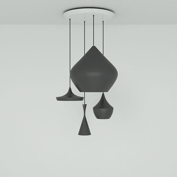 Beat Black Range Round Pendant System by Tom Dixon