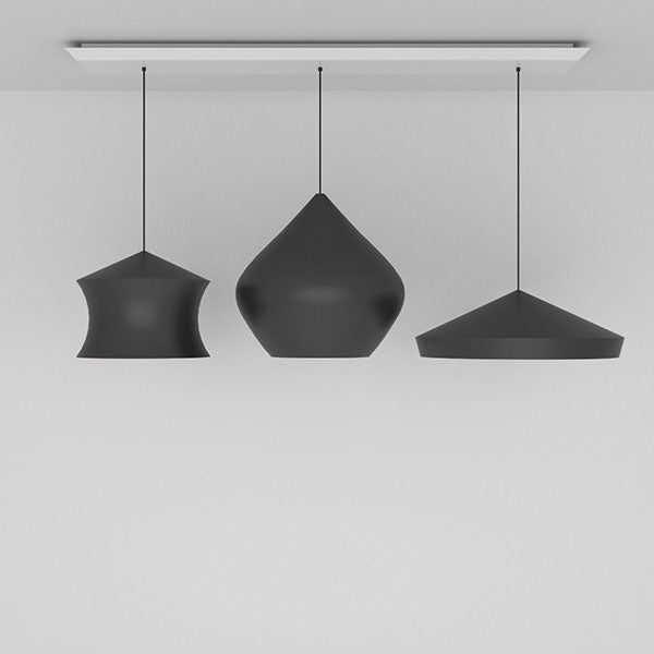 Beat Black Trio Linear Pendant System by Tom Dixon