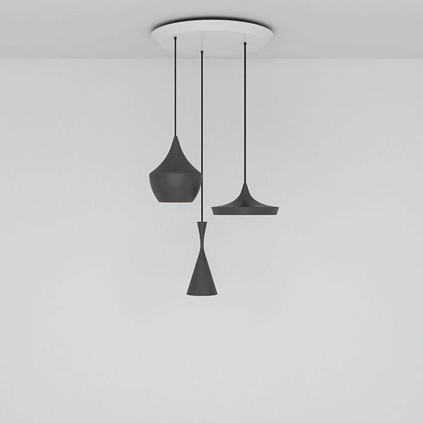 Beat Black Trio Round Pendant System by Tom Dixon