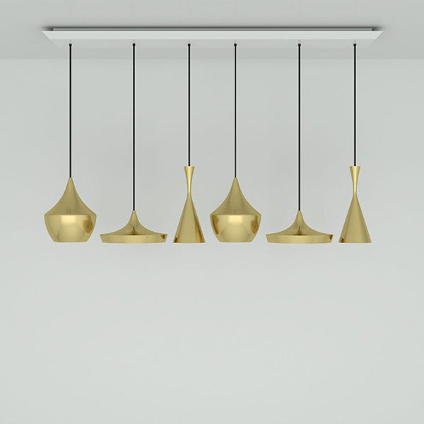 Beat Brushed Brass Range Linear Pendant System by Tom Dixon