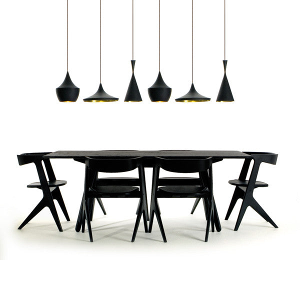 Beat Light - Tall - Black - Vertigo Home