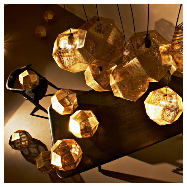 Etch Copper Shade Pendant - Vertigo Home