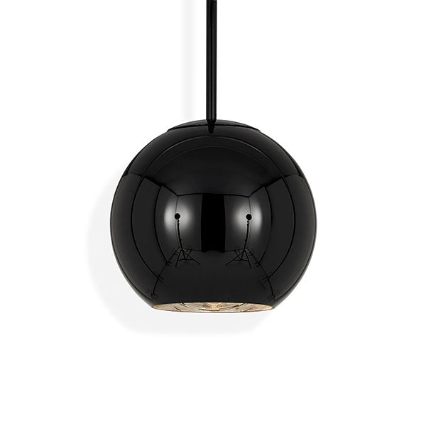 Copper Round Black 25cm Pendant - Tom Dixon