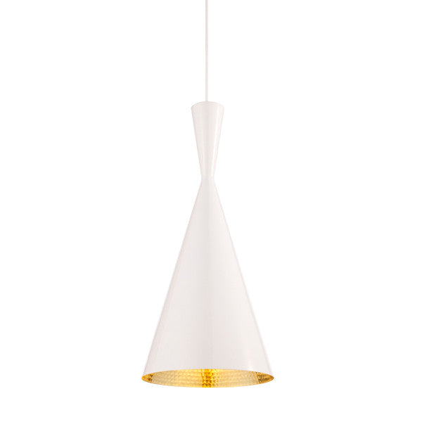 Tom Dixon Beat Light Pendant - Tall - White