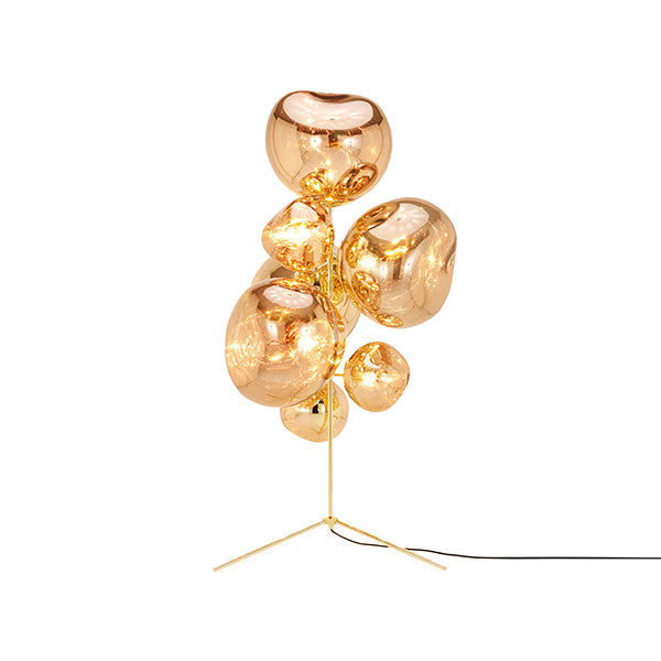 Melt Stand Chandelier Gold by Tom Dixon
