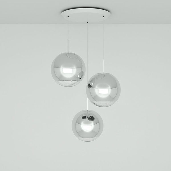 Mirror Ball 40cm Round Pendant System by Tom Dixon