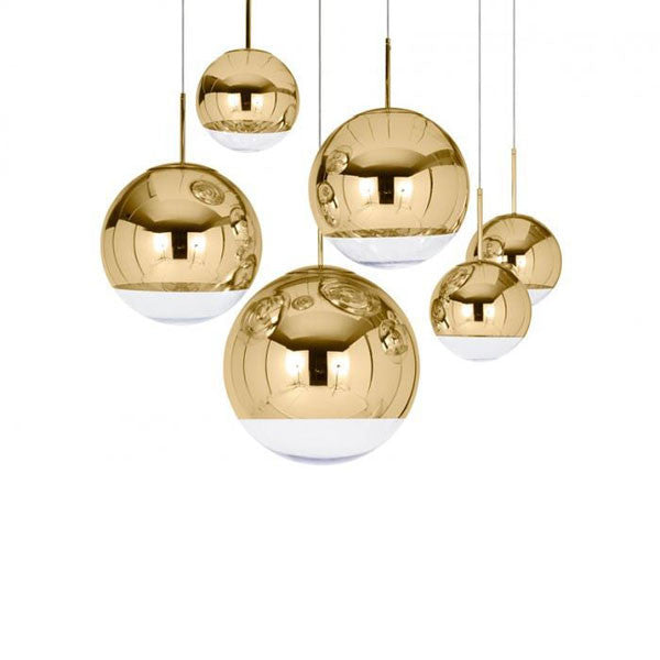 Mirror Ball Gold 40 Pendant by Tom Dixon - Vertigo Home