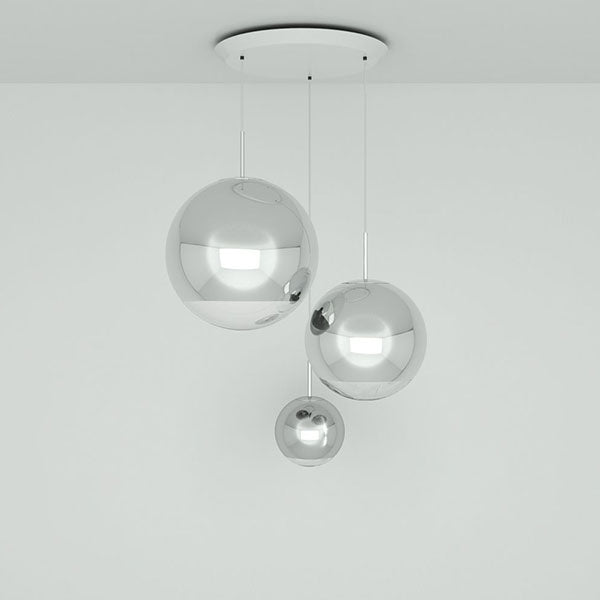 Mirror Ball Range Round Pendant System by Tom Dixon