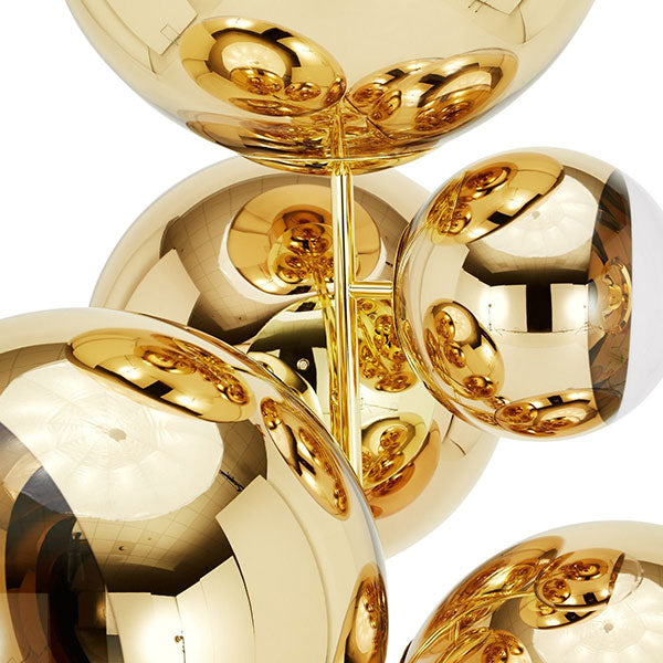 Mirror Ball Stand Chandelier Gold by Tom Dixon