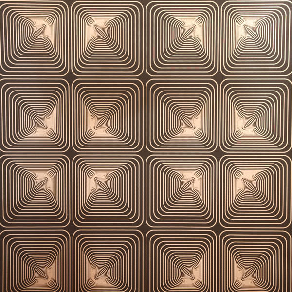 Tunnel Vision - Coffee Bean on Champagne Mylar Wallpaper by Flavor Paper - Vertigo Home