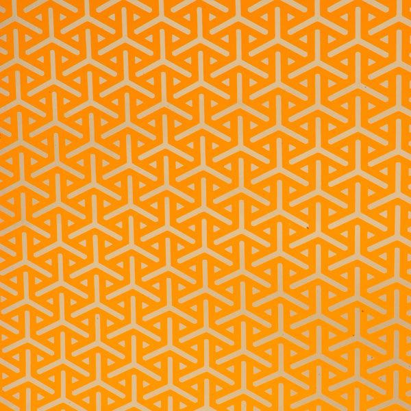 Vapor - Pumpkin on Chrome Mylar Wallpaper by Flavor Paper at www.vertigohome.us