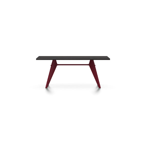 EM Table - Wood - Veneer Dark Oak by Jean Prouvé for Vitra