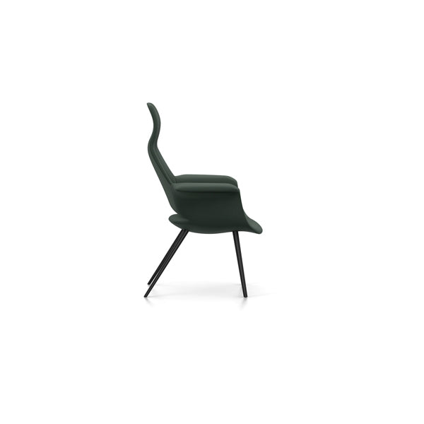 Eames & Saarinen Organic Highback Chair - Hopsak Fabric by Vitra
