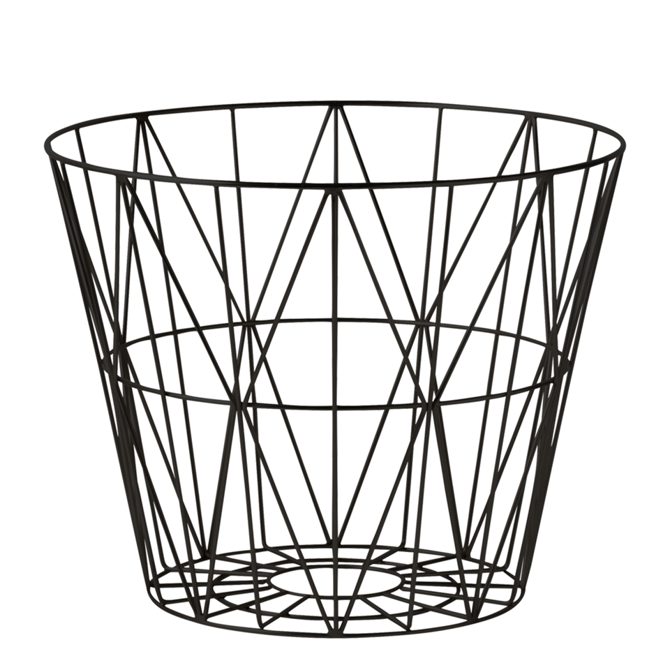 Wire Basket in Black by Ferm Living