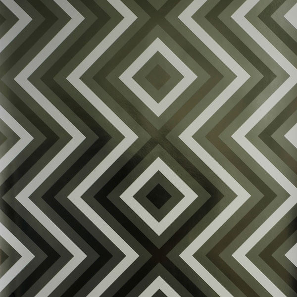 Ziggy Diamond - Noir on Black Mylar Wallpaper by Flavor Paper - Vertigo Home