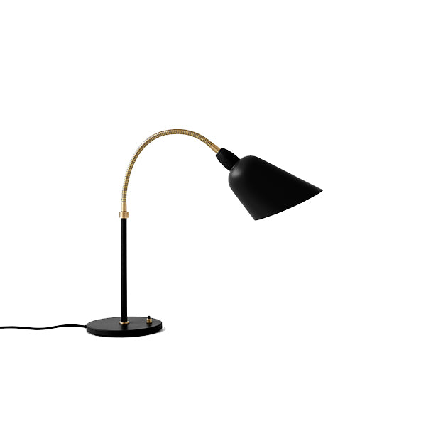 Arne Jacobsen Bellevue AJ8 Black and Brass Table/Desk Lamp from AndTradition