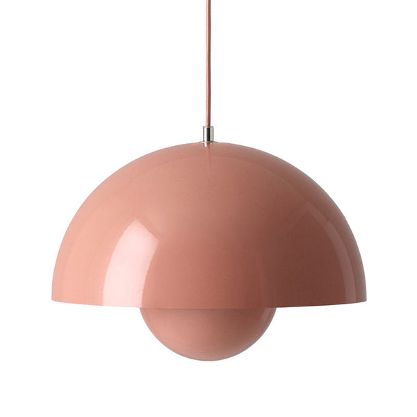 Beige Red VP7 Flowerpot Pendant by Verner Panton for &Tradition