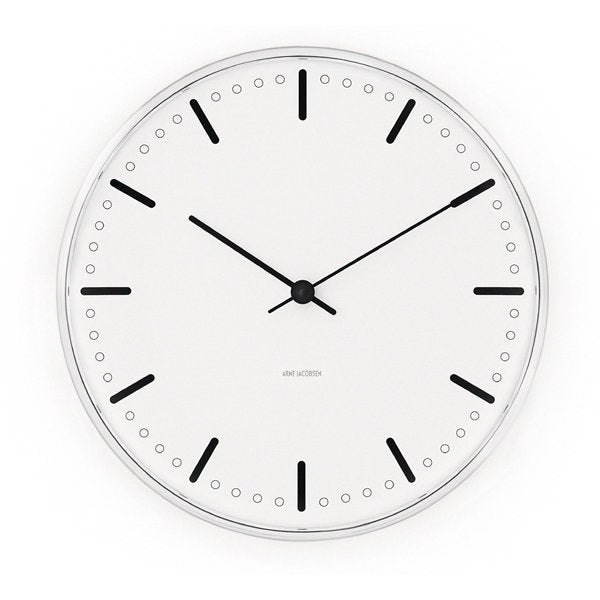 Arne Jacobsen City Hall Clock from Rosendahl - Vertigo Home