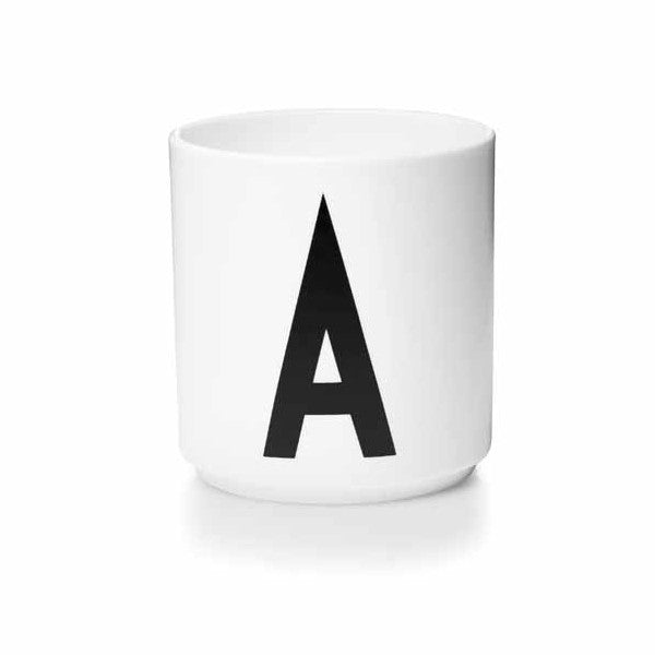 'A' Design Letters Bone China Cup - Vertigo Home