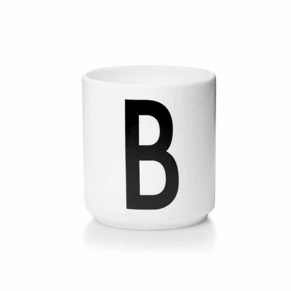 'B' Design Letters Bone China Cup - Vertigo Home