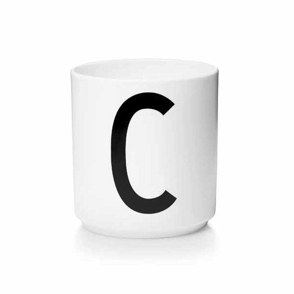 'C' Design Letters Bone China Cup - Vertigo Home