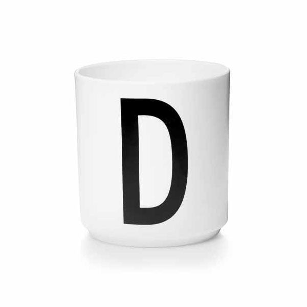'D' Design Letters Bone China Cup - Vertigo Home