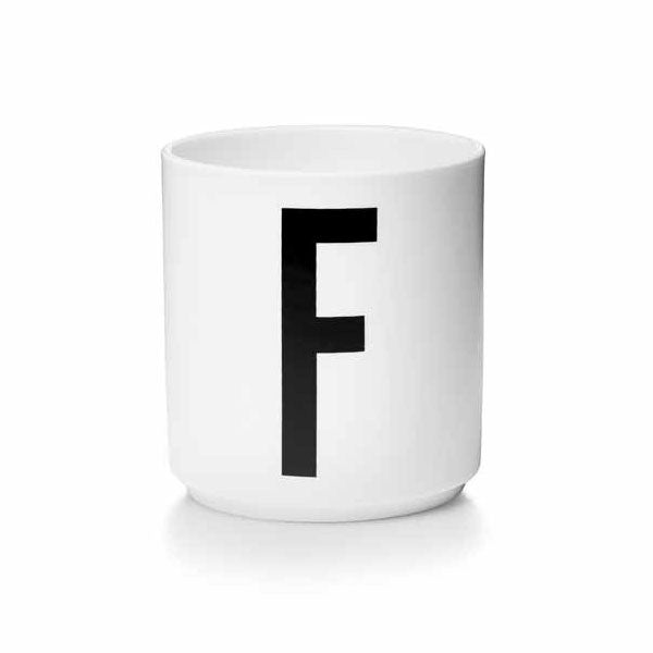'F' Design Letters Bone China Cup - Vertigo Home
