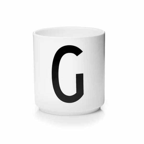 'G' Design Letters Bone China Cup - Vertigo Home