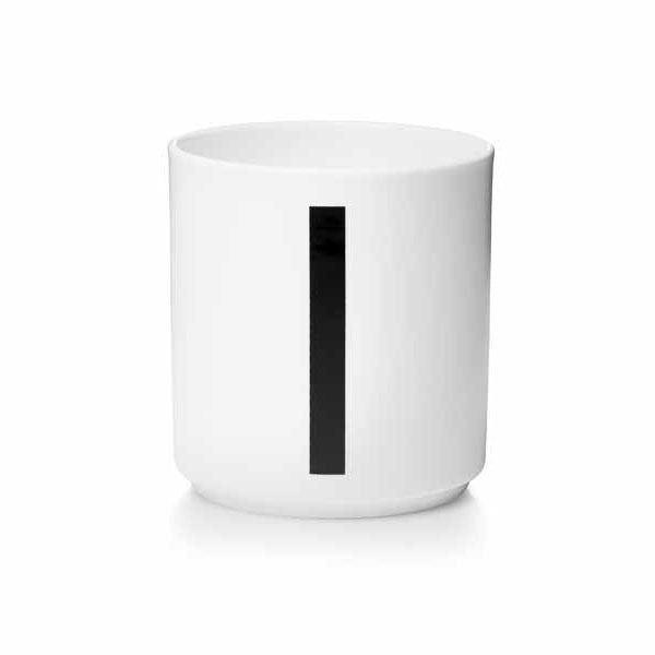 'I' Design Letters Bone China Cup - Vertigo Home