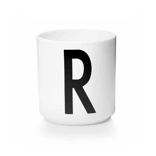 'R' Design Letters Bone China Cup - Vertigo Home