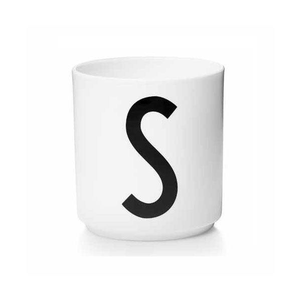 'S' Design Letters Bone China Cup - Vertigo Home