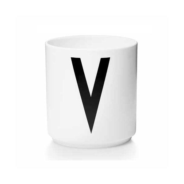 'V' Design Letters Bone China Cup - Vertigo Home