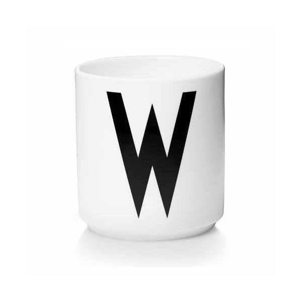 'W' Design Letters Bone China Cup - Vertigo Home